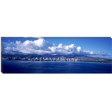City at The Waterfront, Waikiki, Honolulu, Oahu, Hawaii Canvas Wall Art