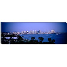 City at The Waterfront, San Diego, San Diego Bay, San Diego County, California Canvas Wall Art