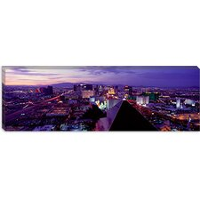 <strong>iCanvasArt</strong> City Lit Up at Dusk, Las Vegas, Clark County, Nevada Canvas Wall Art