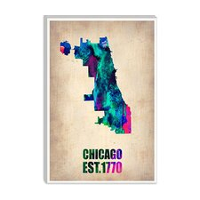 <strong>iCanvasArt</strong> Chicago Watercolor Map Canvas Wall Art from Naxart