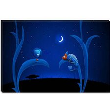 <strong>iCanvasArt</strong> Alien and Chameleon Children Art Canvas Wall Art
