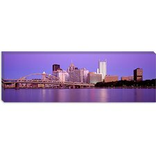 Panoramic Allegheny River Pittsburgh PA Photographic Print on Canvas