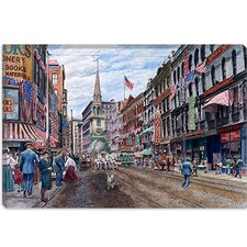 "<strong>iCanvasArt</strong> ""Boston"" Canvas Wall Art by Stanton Manolakas"