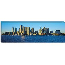<strong>iCanvasArt</strong> Boston Panoramic Skyline Cityscape Canvas Wall Art