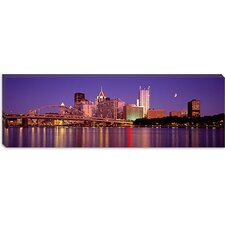 Panoramic Allegheny River, Pittsburgh, Pennsylvania Photographic Print on Canvas