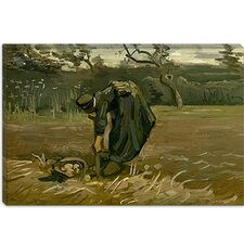 """Aardappelrooister (Peasant Woman, Harvesting Potatoes)"" Canvas Wall Art by Vincent van Gogh"