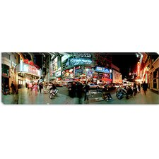 <strong>iCanvasArt</strong> 360 Degree View of a City at Dusk, Broadway, Manhattan, New York City Canvas Wall Art