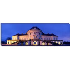 Castle Solitude Lit up at Night, Stuttgart, Baden-Wurttemberg, Germany Canvas Wall Art