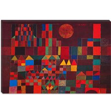 "<strong>iCanvasArt</strong> ""Castle and Sun"" Canvas Wall Art by Paul Klee"