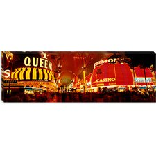 Casino Lit up at Night, Fremont Street, Las Vegas, Nevada Canvas Wall Art