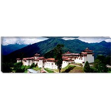 Castle on a Mountain, Trongsar Dzong, Trongsar, Bhutan Canvas Wall Art