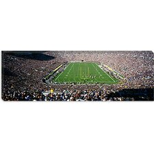 Aerial View of a Football Stadium, Notre Dame Stadium, Notre Dame, Indiana Canvas Wall Art