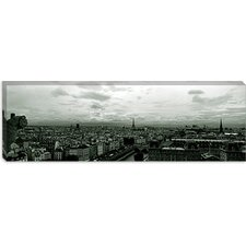 <strong>iCanvasArt</strong> Aerial view of the Seine River from Notre Dame, Paris, France Canvas Wall Art
