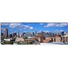 Aerial View of an Urban City in Queens, New York Canvas Wall Art