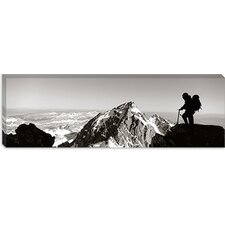 <strong>iCanvasArt</strong> Hiker, Grand Teton Park, Wyoming Canvas Wall Art