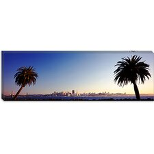 <strong>iCanvasArt</strong> Palm Trees at Dusk, San Francisco, California Canvas Wall Art