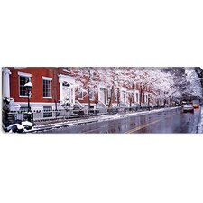 Winter, Snow in Washington Square, New York Canvas Wall Art