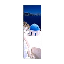 <strong>iCanvasArt</strong> Oia, Santorini, Cyclades Islands, Greece Canvas Wall Art