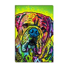 "<strong>iCanvasArt</strong> ""Hey Bulldog"" Canvas Wall Art by Dean Russo"
