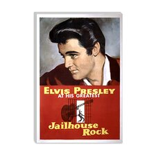 <strong>iCanvasArt</strong> Jailhouse Rock - Scrubbed (Elvis Presley) Canvas Wall Art