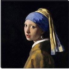 "<strong>iCanvasArt</strong> ""Girl with a Pearl Earring"" Canvas Wall Art by Johannes Vermeer"