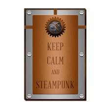 <strong>iCanvasArt</strong> Keep Calm and Steampunk Canvas Wall Art