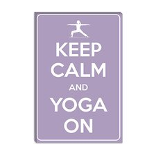 <strong>iCanvasArt</strong> Keep Calm and Yoga On Canvas Wall Art