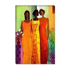 "<strong>iCanvasArt</strong> ""Girlfriends"" Canvas Wall Art by Keith Mallett"