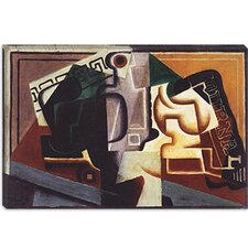 "<strong>iCanvasArt</strong> ""Glas und Karaffe"" Canvas Wall Art by Juan Gris"