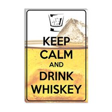 <strong>iCanvasArt</strong> Keep Calm and Drink Whiskey Canvas Wall Art