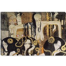 "<strong>iCanvasArt</strong> ""Gorgonen 3 (The Three Gorgones: Sickness, Madness, Death)"" Canvas Wall Art by Gustav Klimt"
