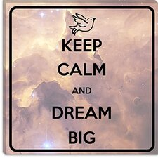 <strong>iCanvasArt</strong> Keep Calm and Dream Big Canvas Wall Art