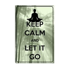 <strong>iCanvasArt</strong> Keep Calm and Let It Go Canvas Wall Art