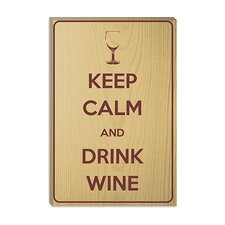<strong>iCanvasArt</strong> Keep Calm and Drink Wine Canvas Wall Art