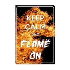 <strong>iCanvasArt</strong> Keep Calm and Flame on Canvas Wall Art