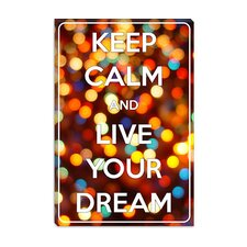 <strong>iCanvasArt</strong> Keep Calm and Live Your Dream Canvas Wall Art