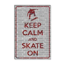 <strong>iCanvasArt</strong> Keep Calm and Skate on Canvas Wall Art