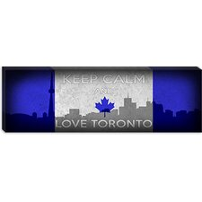 <strong>iCanvasArt</strong> Keep Calm and Love Toronto Canvas Wall Art
