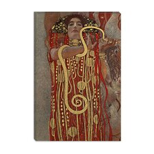 """Hygieia (Detail from the Medicine)"" Canvas Wall Art by Gustav Klimt"