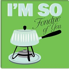 <strong>iCanvasArt</strong> I Am So Fondue of You Canvas Wall Art