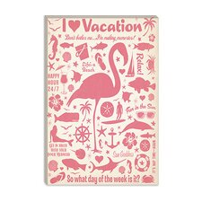 <strong>iCanvasArt</strong> I Heart Vacation Canvas Wall Art