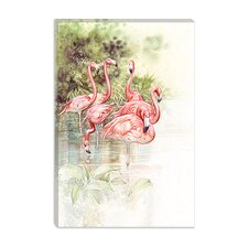 "<strong>iCanvasArt</strong> ""Flamingo Bird"" Canvas Wall Art by Tim Knepp"