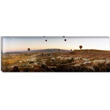 <strong>iCanvasArt</strong> Hot Air Balloons Over Cappadocia at Sunrise, Central Anatolia Region, Turkey Canvas Wall Art