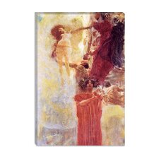 """Gemalter Kompositionsentwurf zur Medizin (Painted Composition Designed to Medicine)"" Canvas Wall Art by Gustav Klimt"