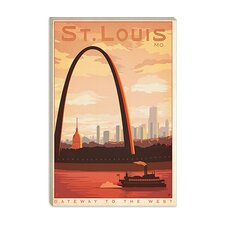 "<strong>iCanvasArt</strong> Gateway to the West, ""St. Louis"", Missouri Canvas Wall Art"