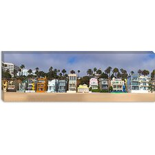 <strong>iCanvasArt</strong> Houses on The Beach, Santa Monica, Los Angeles County, California Canvas Wall Art