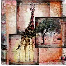 "<strong>iCanvasArt</strong> ""Girafe"" Canvas Wall Art by Luz Graphics"