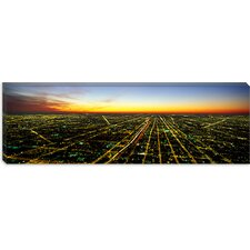 <strong>iCanvasArt</strong> Evening Chicago, Illinois Canvas Wall Art