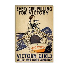 <strong>iCanvasArt</strong> Every Girl Pulling for Victory WWI Poster