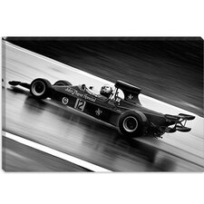 <strong>iCanvasArt</strong> F1 Wet Track Grayscale Canvas Wall Art